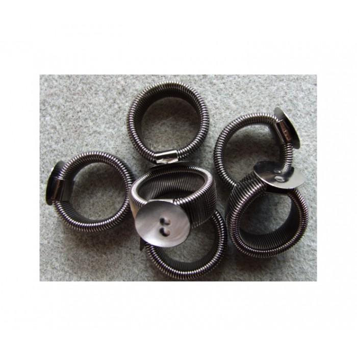 JUOD-ZD18 Ruošinys žiedui, 18 dydis, (reguliuojasi)15mm plokštelė.