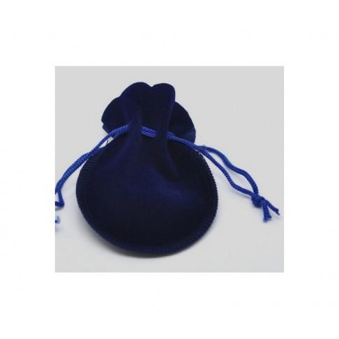 PK-08010 Aksominis maišelis 105x90mm,  tamsiai mėlynas