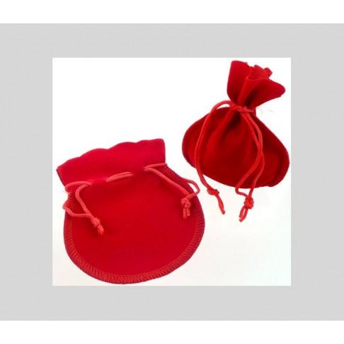 MAIS-8014R Aksominis maišelis 105x90mm, Raudonas