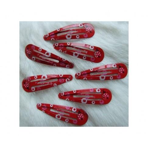 P-48123 Segtukas plaukams, raudonai-marga, 48mm