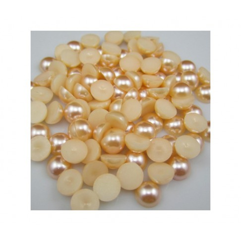 KAB-AKR0001 Akrilinis perliuko kabošonas, 9mm, geltonas