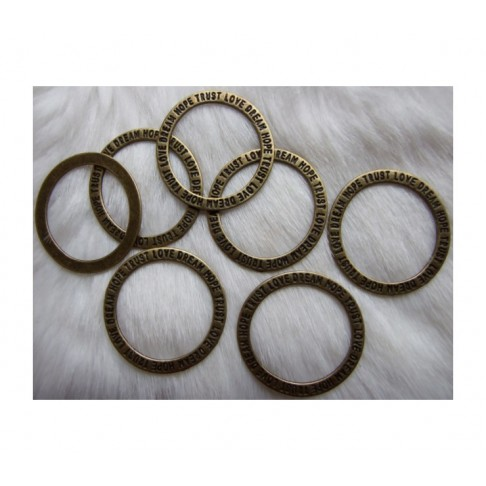 ZAL-ZD357 Pakabukas-apvalus žiedas su užrašais, 35mm