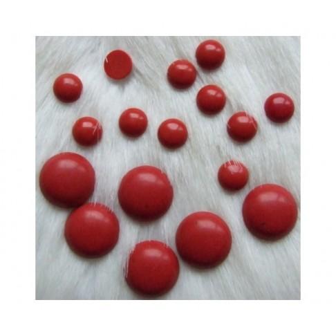KAB-KRA8M  Sint., koralo kabošonas, 8mm, raudonas