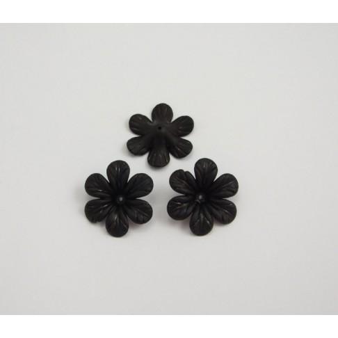 AK-15418 Akrilinė gėlytė, juodos sp., 30mm