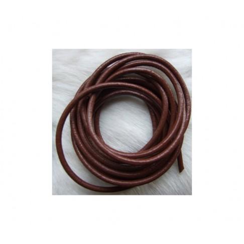 OD-VIR37 Odinė virvutė 3mm, ruda, už 10 cm