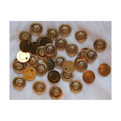 """AUK-PK12115 send., aukso sp., pakabukas """"Saulė, 12mm"""