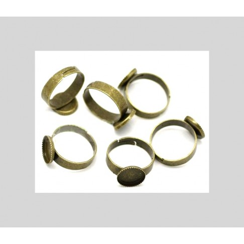 ZAL-Z454 Ruošinys žiedui, 14mm kabošonui