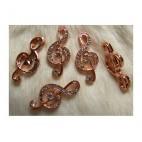 """ROZ-AUK655 Pakabukas """" Nata"""" , rožinio aukso sp., 17x37mm, su kristalo akutėm"""