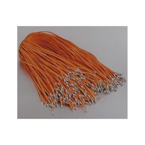 J-PKZ148 virvutė su užsegimu,  pakabukams, apie 45cmx3mm, oranžinė
