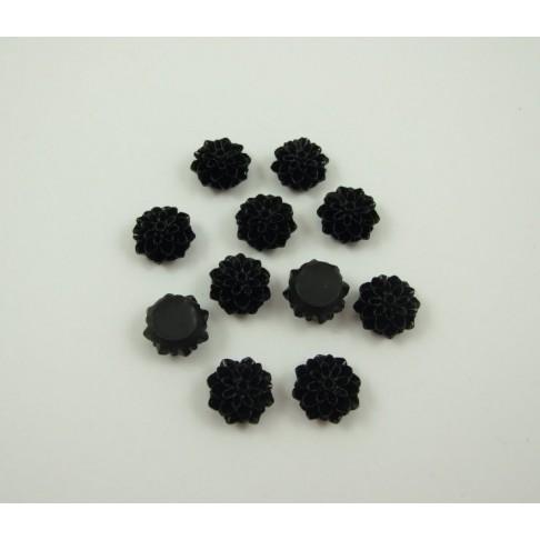 AG-7726 Akrilinė gėlytė, 15mm, juodos sp.