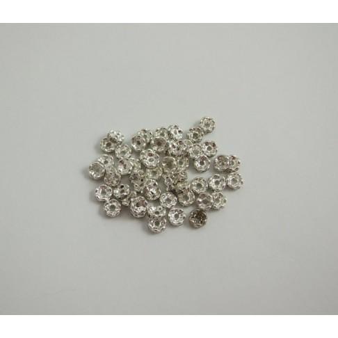 I-16601 Intarpas skaidriom kristalo akutėm, 6mm