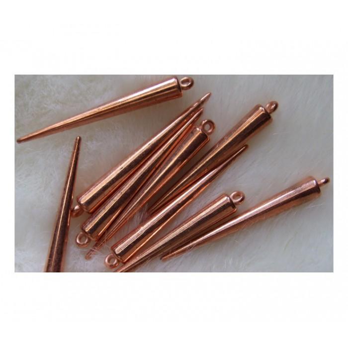 ROZ-AUK222  Rožinio aukso metalizuotas pakabukas, 50x6mm