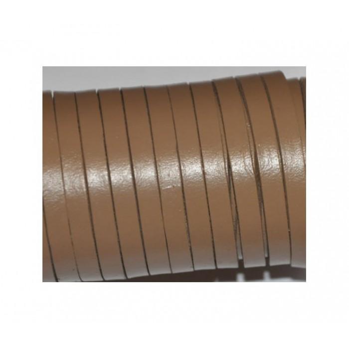 V-NAT5240 Natūralios odos juostelė,  5mmx 2mm , ŠVIESI RUDA, kaina už 10 cm( nesukarpyta)
