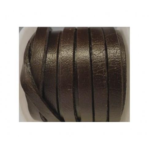 V-NAT5242 Natūralios odos juostelė, 10mmx 2mm , RUDA-TAMSI, kaina už 10 cm( nesukarpyta)