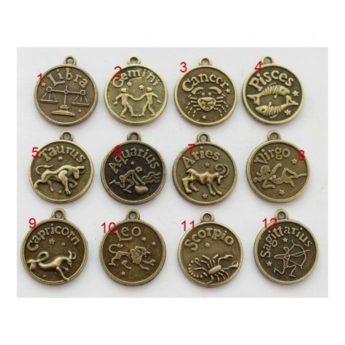 """ZAL-8874 Pakabukas, zodiako ženklas """"Svarstyklės"""" 17mm+kilputė Nr.1"""