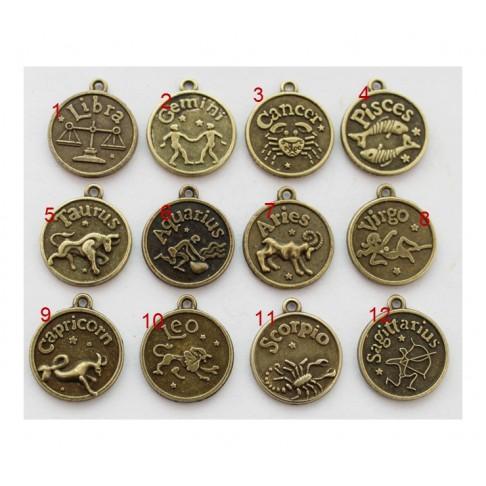 """ZAL-8883 Pakabukas, zodiako ženklas """"Liūtas"""" 17mm+kilputė Nr.10"""