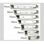 7-SA3  Užsegimas sagei, 15mm, tamsaus sid., sp.
