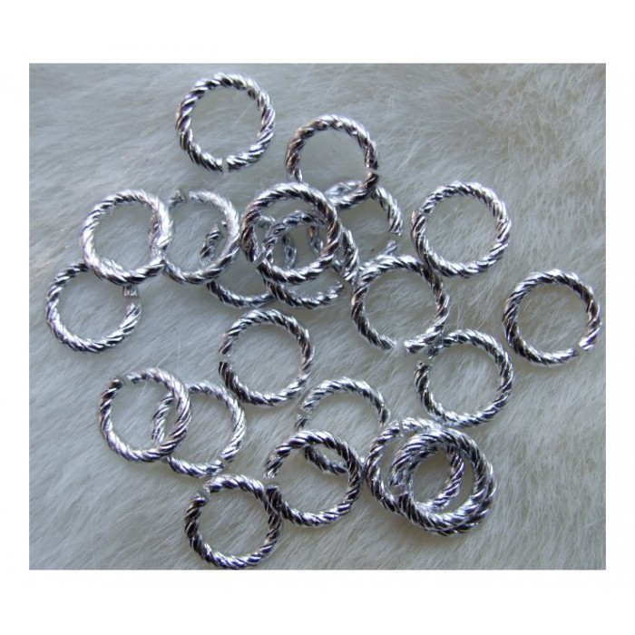 7-4062 Žiedelis sidabruotas, 12x2mm