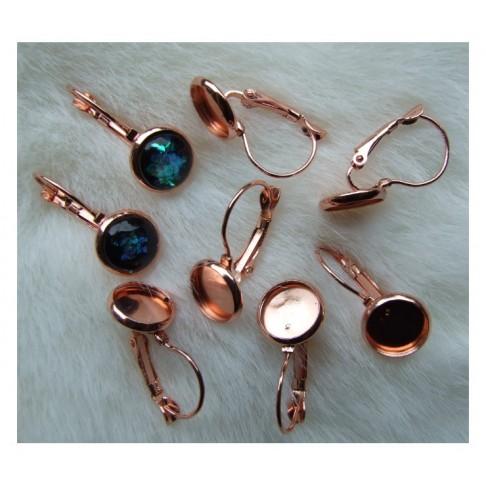 ROZ-A298 Rožinio aukso sp., auskarams, tinka apie 10mm kabošonas, kaina už porą