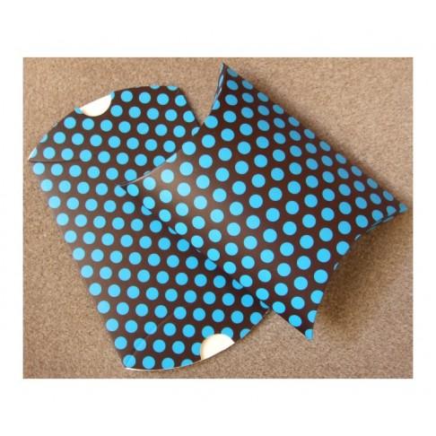 D-16758 Dėžutė išlankstoma,sulankstyta 11x9x3mm., Mėlyna