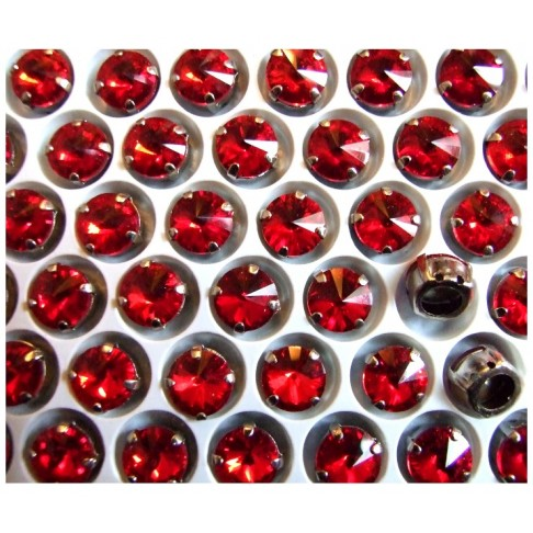 D-A14147  Intarpas-detalė, 10mm, kristalo TAMSI RAUDONA