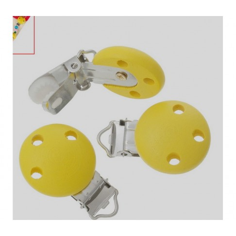 ZD-1 Laikiklis žindukui, medinis, geltonas