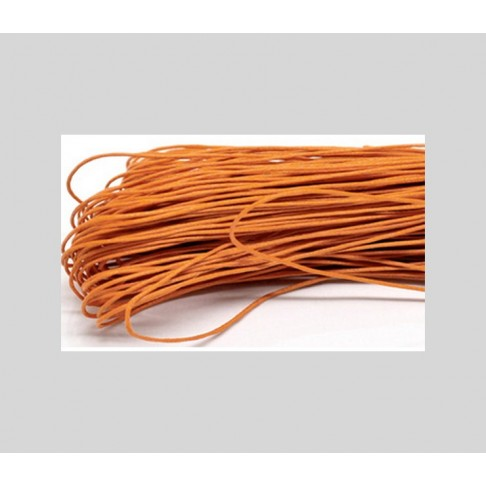 V-1R4  Medvilnės virvutė, 1mm, kaina už 1m (imant kelis bus nesukarpyta), ORANŽINĖ