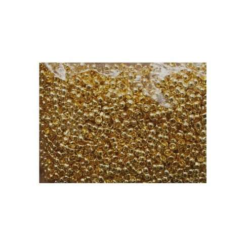 AUK-24661 Spaustukai, 2.4mm, aukso sp., už 100 vnt.