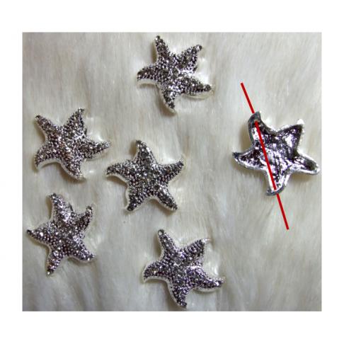 """SID-PR57   Karoliukas-intarpas, su kristalo akutėm, """" Jūros žvaigždutė"""" , 25 mm"""