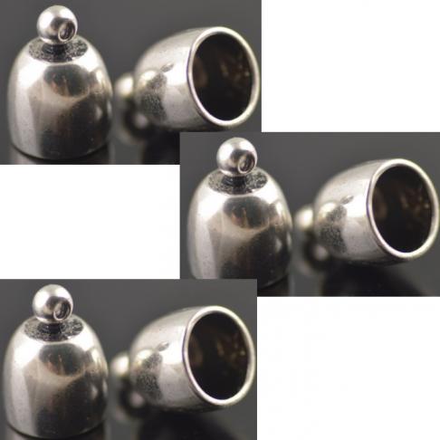 7-ZDE181 Kepurėlė-užbaigimo dtalė, 17x12x10mm, tamsesnio sid., sp.
