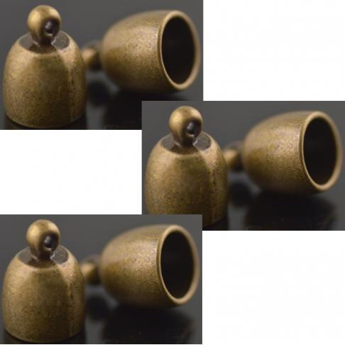 ZAL-ZDE182  Kepurėlė-užbaigimo dtalė, 17x12x10mm