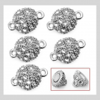7-55788 magnetinis užsegimas su kristalo akutėm, 15x9mm
