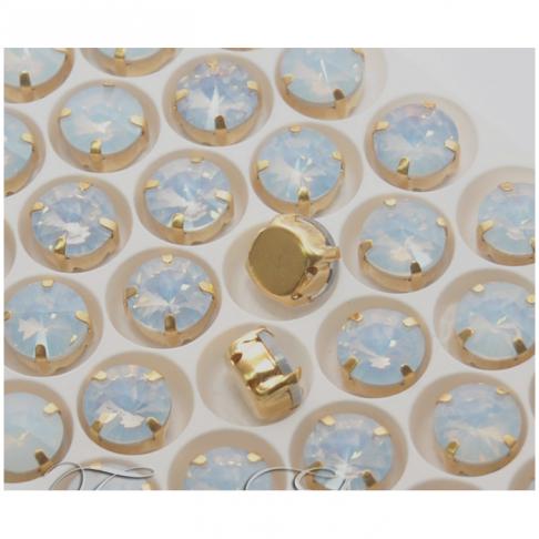 D-A10101  Intarpas-detalė, 10mm, kristalo opalo balta