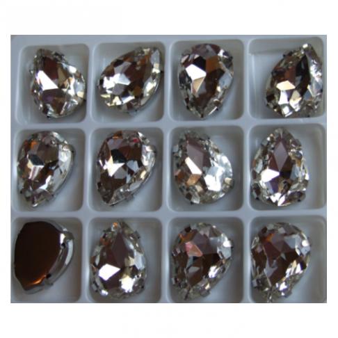 D-A30226  Intarpas-detalė, 18x13mm, kristalo skaidri sp,.