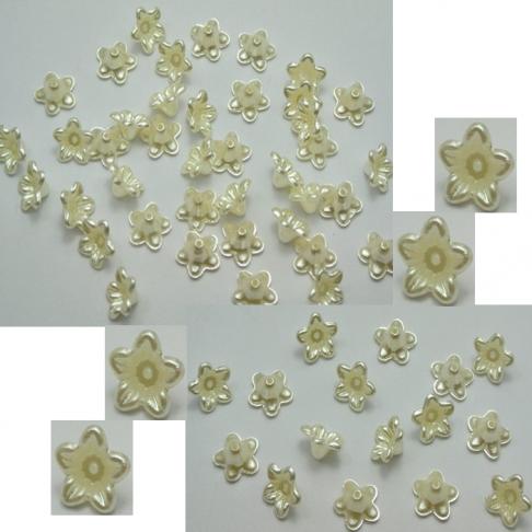 A-K510 Akrilinė gėlytė, karoliukas, perlamutrinė, 10mm