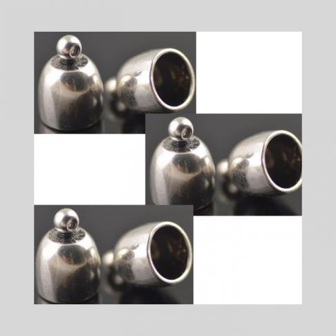 7-ZDE185  Kepurėlė-užbaigimo detalė, 12x8(vidus 5mm virvutei)