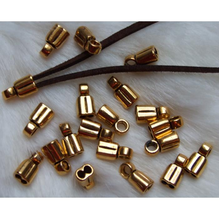 AUK-ZDE188  Užbaigimo detalė (2 eilių), 3mm juostelei-virvutei