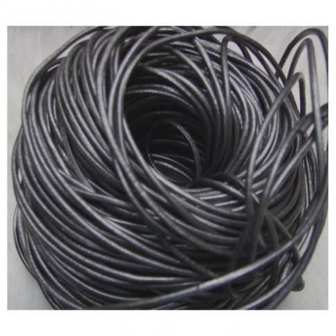 OD-9969 Odinė virvutė, 2mm, tamsios SIDABRO sp., kaina už 10 cm.