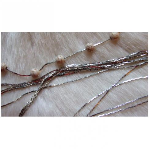 SID-70801  Grandinėlė, 0.8-1 mm pločio, gali klijuotis karoliukai, už 1.20 m(sukarpyta) sidabro sp.