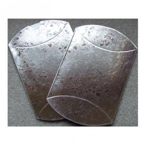 D-10316 Dėžutė išlankstoma, 13x8, sulankstyta gaunasi 8x7cm, sidabro sp.