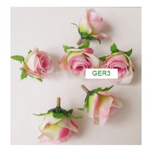 G-GER3  Dirbtinė gėlytė, apie 30mm ROŽINĖ