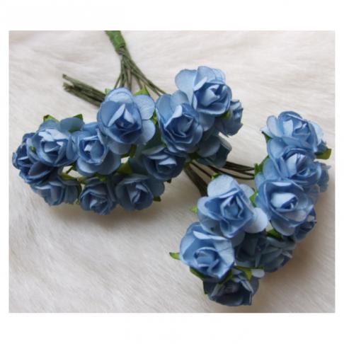 MR-R8S Mulberry popierinės gėlytės, 1-1.5 cm, 12 vnt., ŽYDROS
