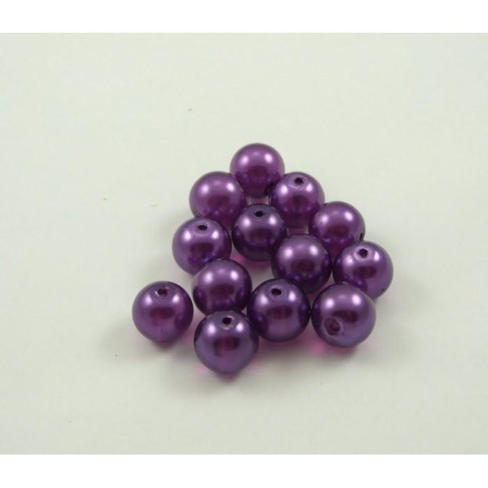 P-5533 Stiklinis perliukas, 12mm, skaidriai violetinis