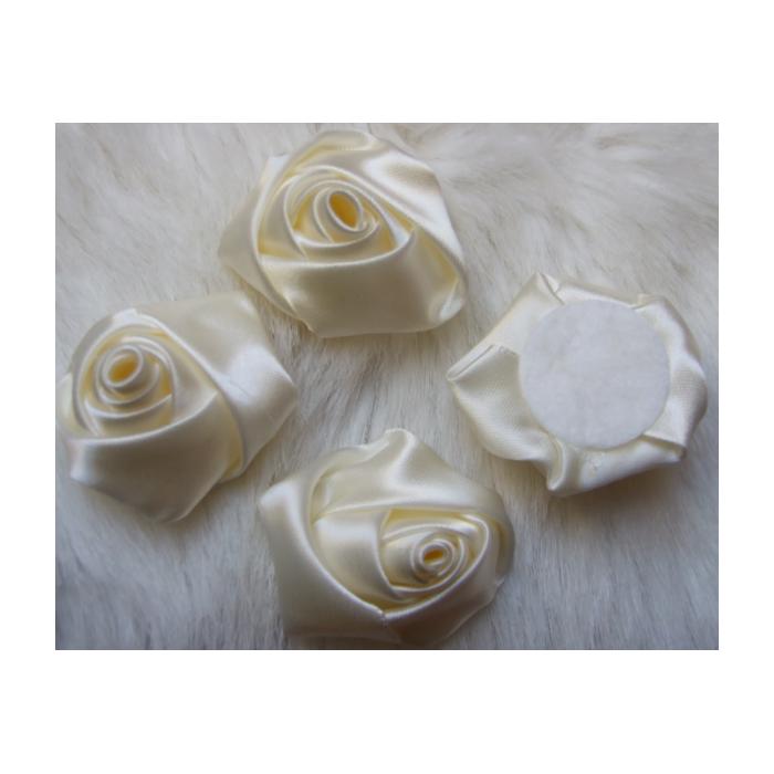 B-KB3353  Satino rožytė, 3-3.5cm, Kreminė