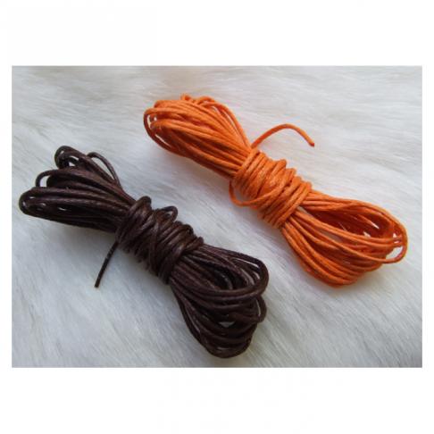 VR-33627  Medvilnės virvutė, 1mm, kaina už 3m rudos ir 3m oranžinės (nuotraukoje)