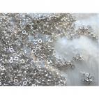 SID-29221 Vinutė pusiau gręžtiem karoliukam, 2.5x6.5mm, sidabro sp.