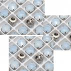 D-A40109  Intarpas-detalė, 10mm, kristalo, balto opalo sp.