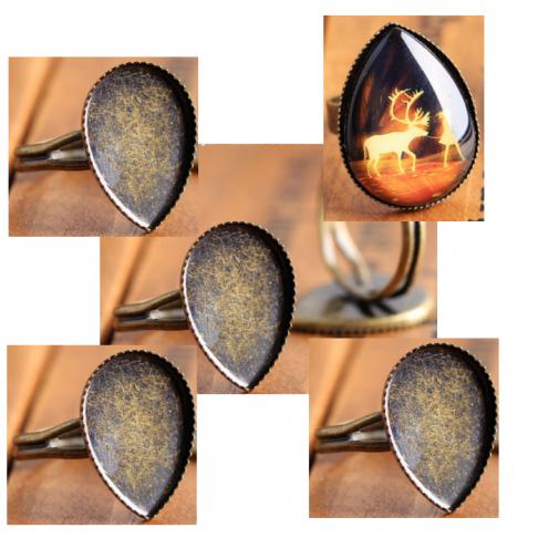 ZAL-180199  Ruošinys žiedui, 18x13mm kabošonui, lašo frmos