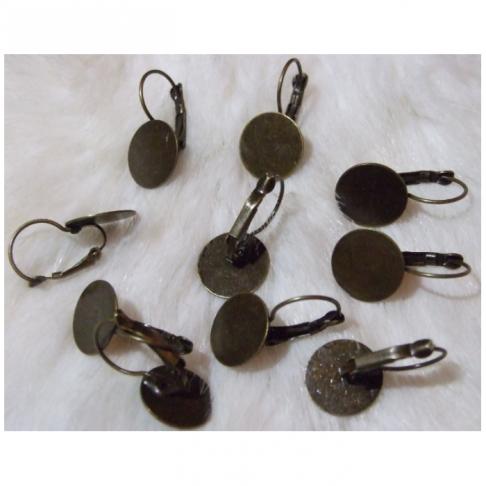 ZAL- 14055 Kabliukai auskarams, padelis 14mm, už porą