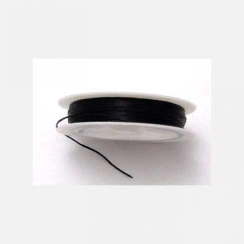 V-7862 juoda elastinė gumutė, 1mm., kaina už 12 metrų